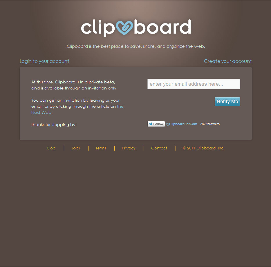 Clipboard and alternative to Pinterest for private boards