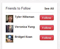 Friends to Follow on Pinterest Twitter Follows