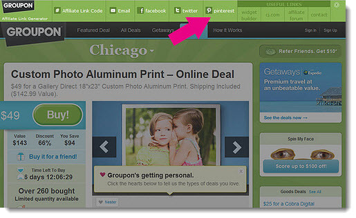 Groupon Affiliate Program Pin to Pinterest