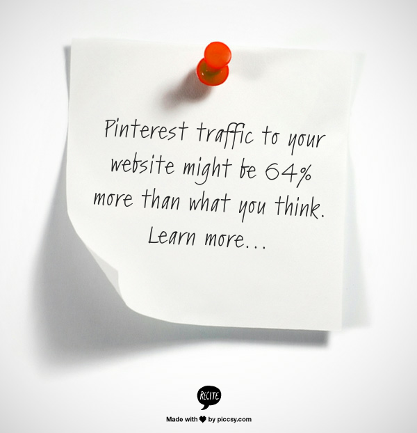 Pinterest traffic to your blog or website is being underreported