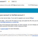 Twitter Verification Phishing Scam Email