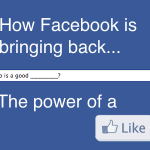 Who is a good plumber - how Facebook is brinking back the power of a like